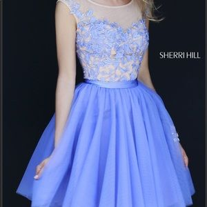 Floral Lace Sherri Hill Dress 11171